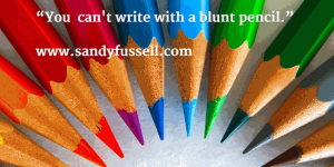 you ca write with a blunt pencil